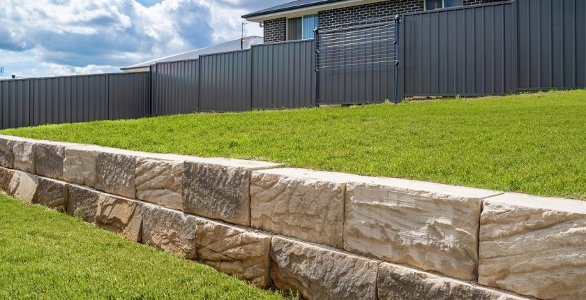 Limestone has many uses. It is popular for retaining walls.
